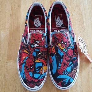 Vans Slip On Marvel Avengers Spider-Man Sneakers a0ec27f57